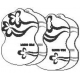 Limpantys elektrodų padukai HubDIC NEM-100 elektrostimuliatoriui - 1