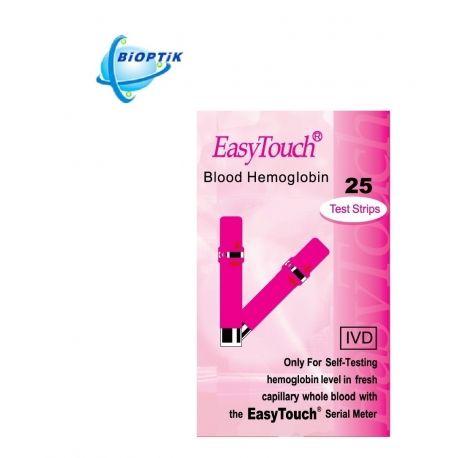 Hemoglobino kiekio tyrimo juostelės BIOPTIK EasyTouch® (25 vnt) - 1