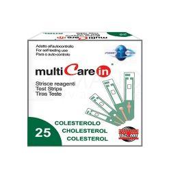 Cholesterolio kiekio kraujyje tyrimo juostelės multiCare-in N25 (25 vnt)