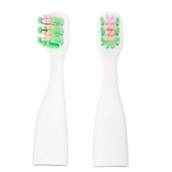 Antgaliai dantų šepetėliams VITAMMY Tooth Friends (žalia/rožinė) (2 vnt.)