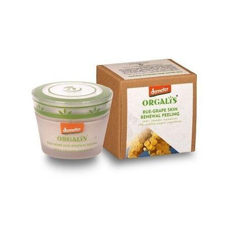 Rūtos ir vynuogių odą atnaujinantis šveitiklis ORGALYS 50 ml
